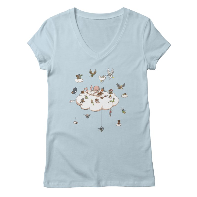Creature Creator Women's V-Neck by Mantichore's Artist Shop