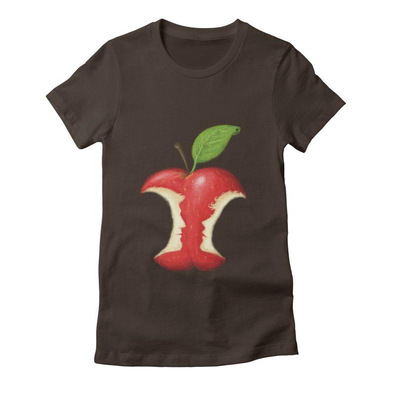 Original Sin Women's Fitted T-Shirt by Mantichore Design