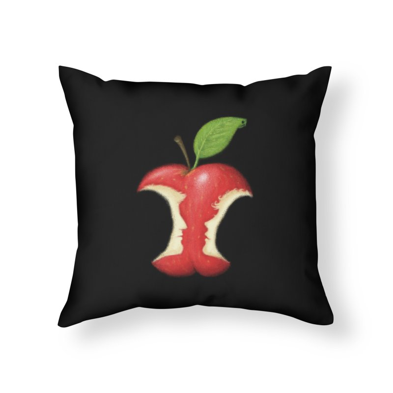 Original Sin Home Throw Pillow by Mantichore Design