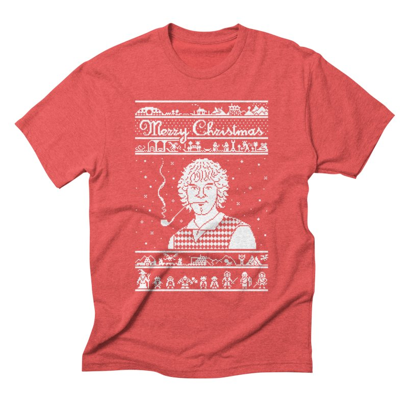 Merry Christmas Men's T-Shirt by Mantichore Design