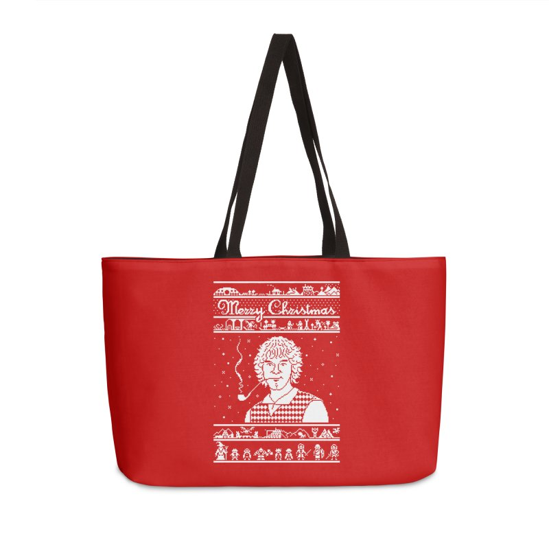 Merry Christmas Accessories Weekender Bag Bag by Mantichore Design