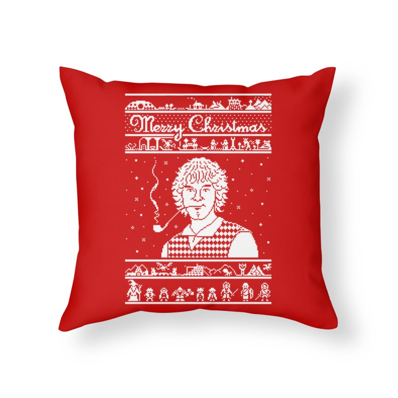 Merry Christmas Home Throw Pillow by Mantichore Design