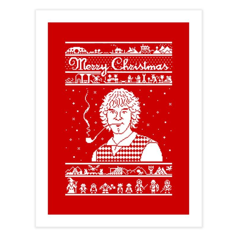 Merry Christmas Home Fine Art Print by Mantichore Design