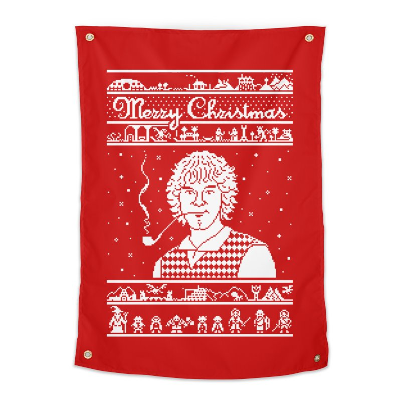 Merry Christmas Home Tapestry by Mantichore Design