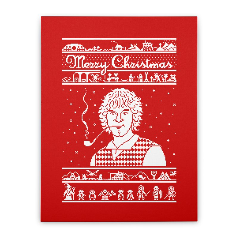 Merry Christmas Home Stretched Canvas by Mantichore Design