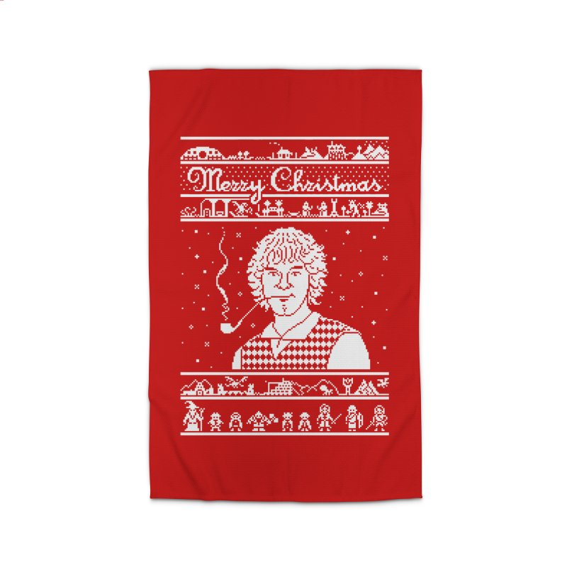 Merry Christmas Home Rug by Mantichore Design