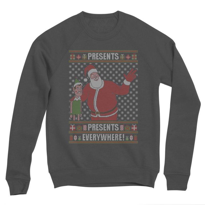 Presents everywhere! (Knitted version) Men's Sponge Fleece Sweatshirt by Mantichore Design