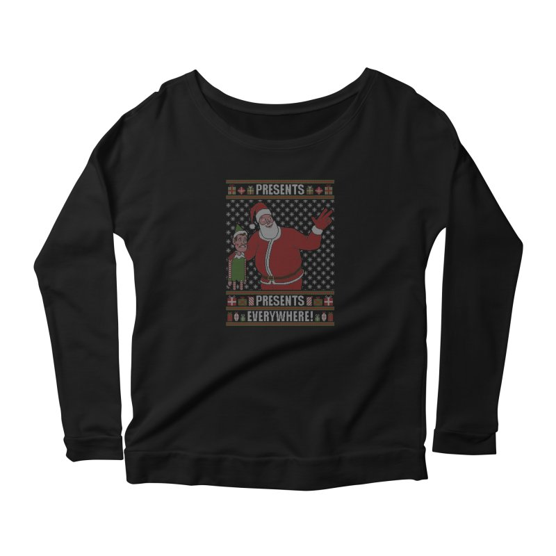 Presents everywhere! (Knitted version) Women's Longsleeve T-Shirt by Mantichore Design