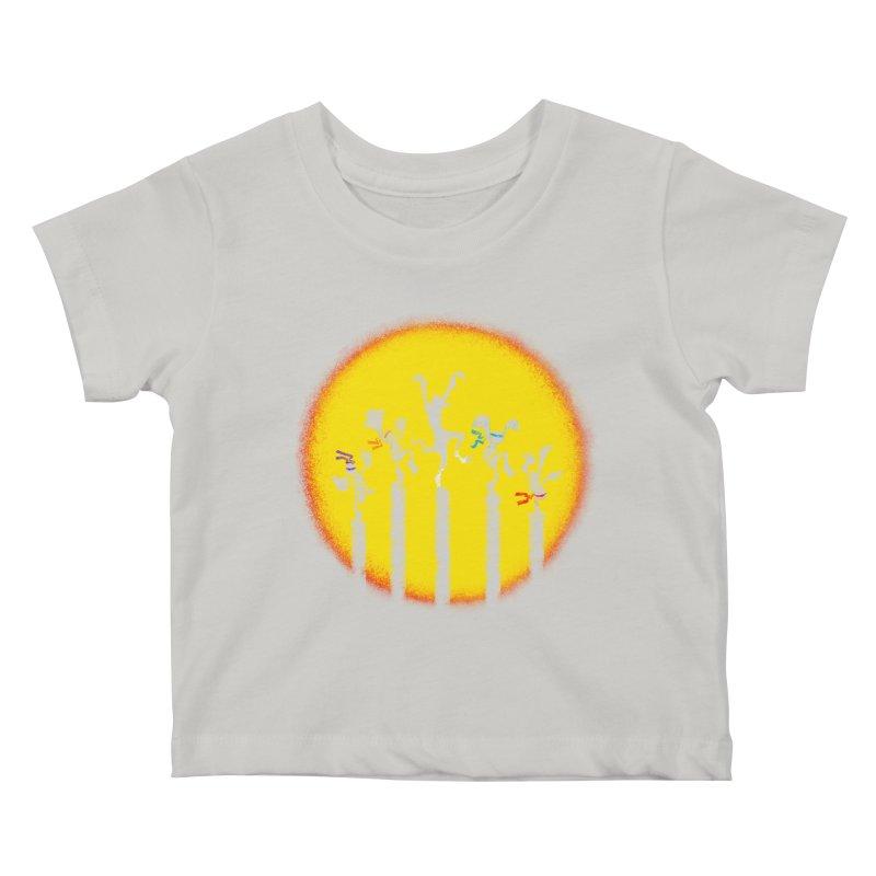 Teenage Mutant Karate Kids Kids Baby T-Shirt by Mantichore Design