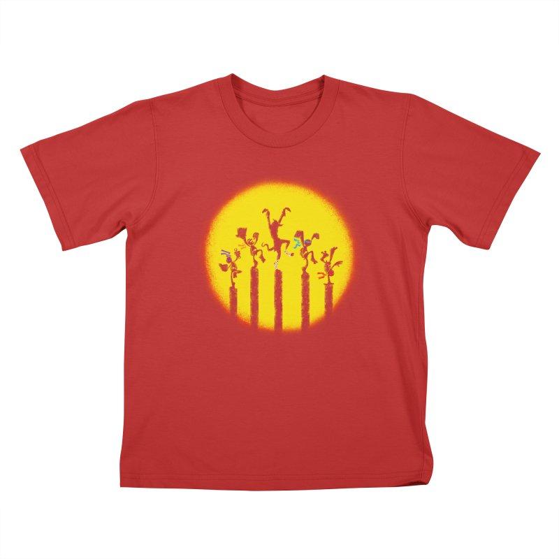 Teenage Mutant Karate Kids Kids T-Shirt by Mantichore Design