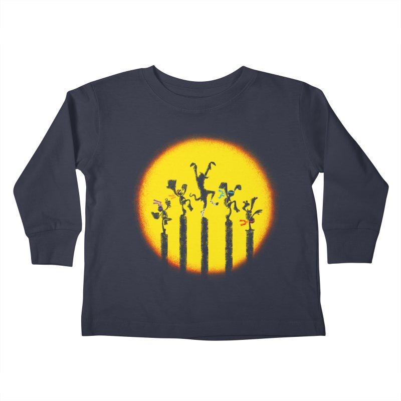 Teenage Mutant Karate Kids Kids Toddler Longsleeve T-Shirt by Mantichore Design