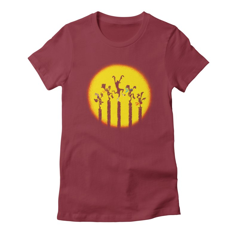 Teenage Mutant Karate Kids Women's Fitted T-Shirt by Mantichore Design