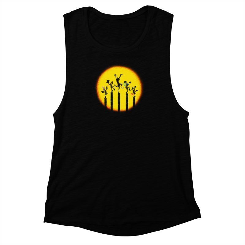 Teenage Mutant Karate Kids Women's Muscle Tank by Mantichore Design