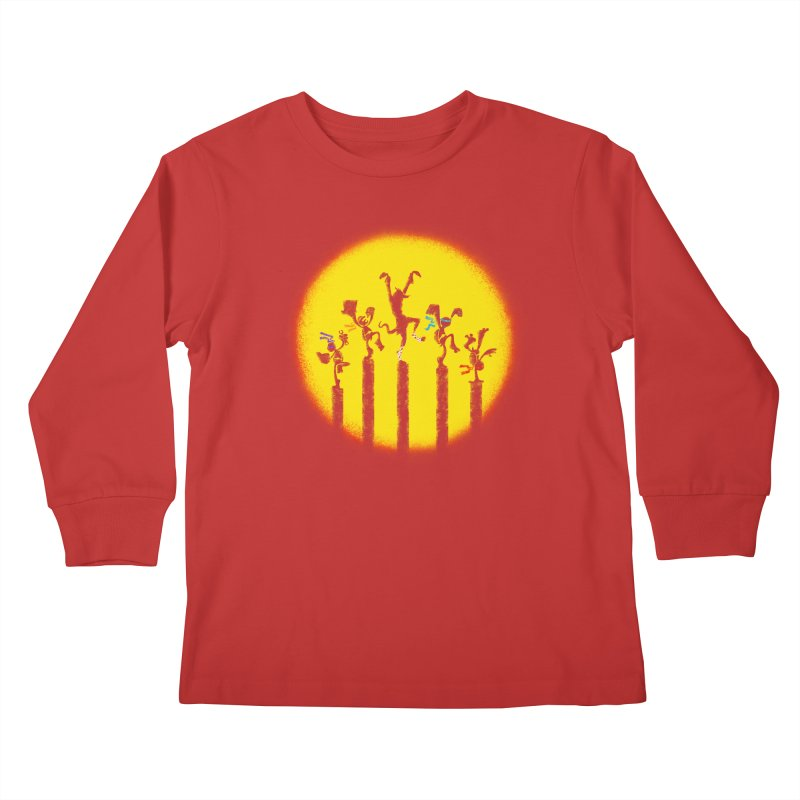 Teenage Mutant Karate Kids Kids Longsleeve T-Shirt by Mantichore Design