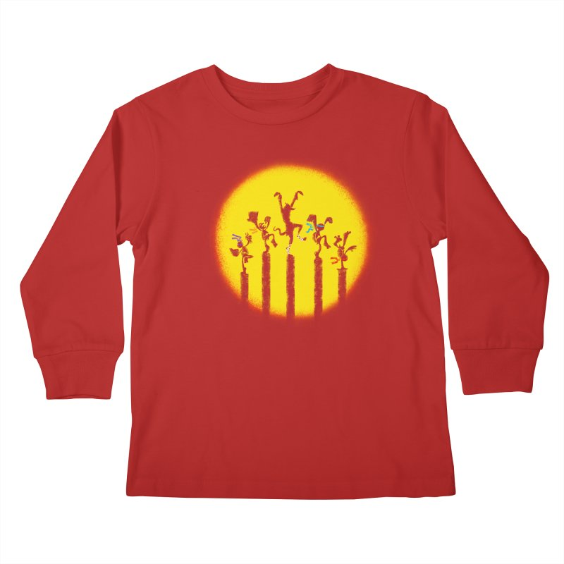 Teenage Mutant Karate Kids Kids Longsleeve T-Shirt by Mantichore's Artist Shop