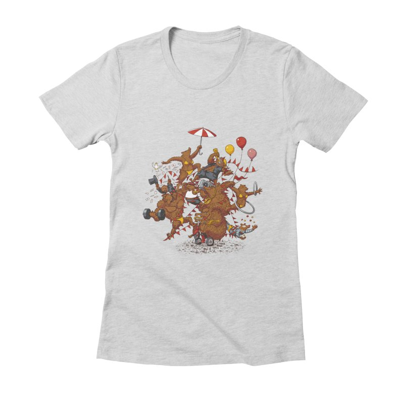 Ride free! Women's Fitted T-Shirt by Mantichore Design