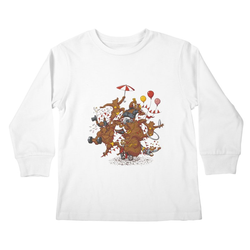 Ride free! Kids Longsleeve T-Shirt by Mantichore Design