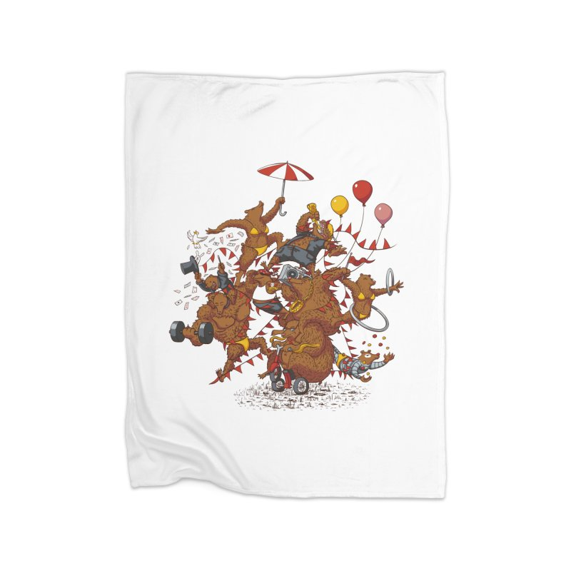 Ride free! Home Fleece Blanket Blanket by Mantichore Design