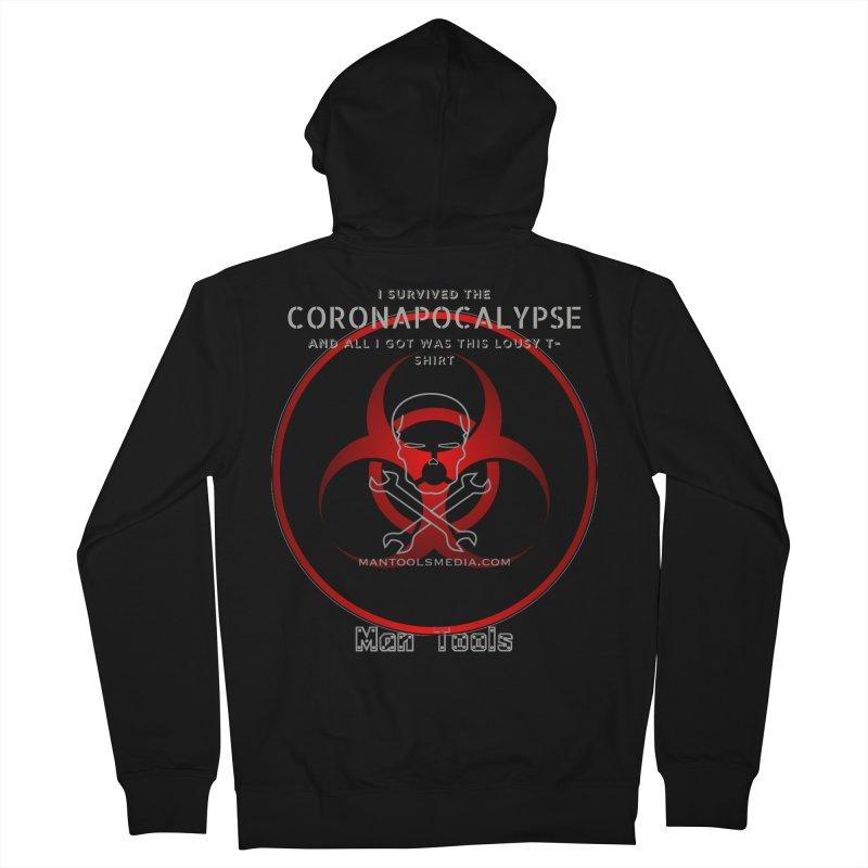 CORONAPOCALYPSE Men's Zip-Up Hoody by Man Tools Merch