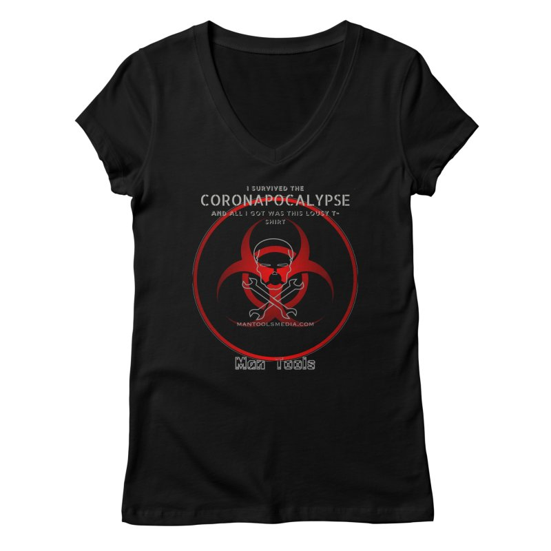 CORONAPOCALYPSE Women's V-Neck by Man Tools Merch