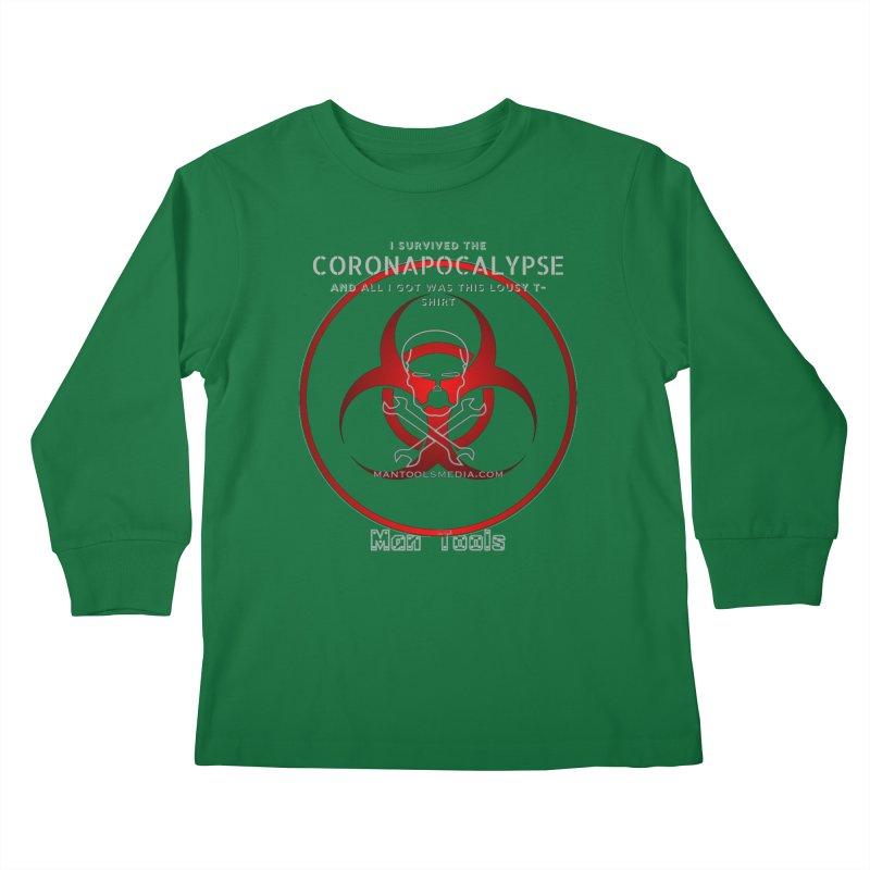 CORONAPOCALYPSE Kids Longsleeve T-Shirt by Man Tools Merch