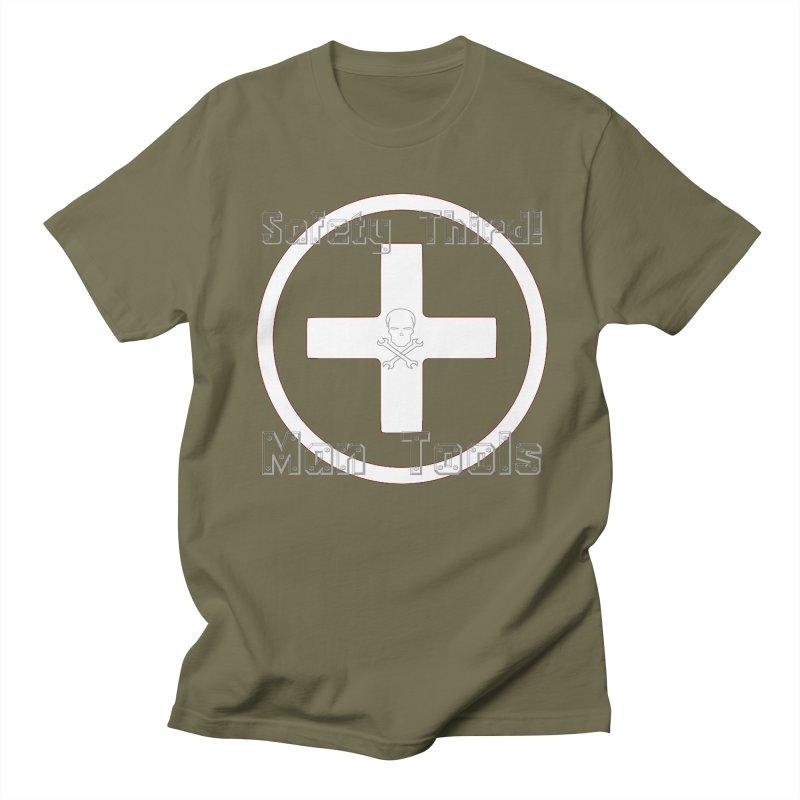 Safety Third! Men's Regular T-Shirt by Man Tools Merch