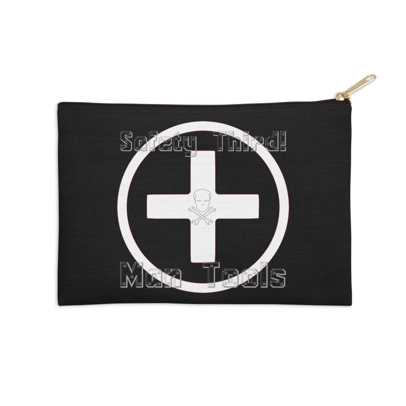 Safety Third! Accessories Zip Pouch by Man Tools Merch