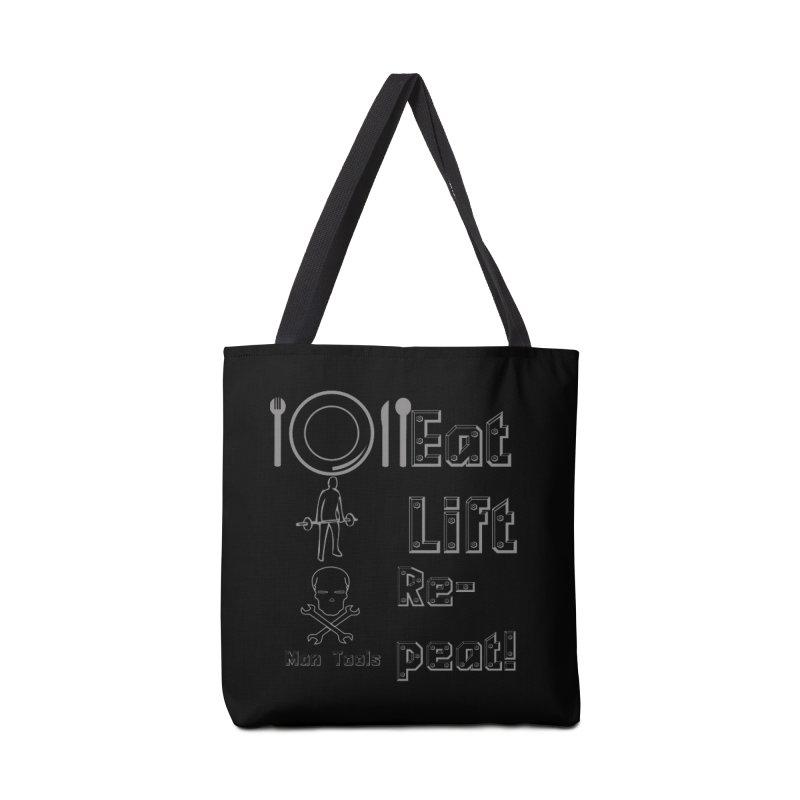 EAT LIFT REPEAT! Accessories Tote Bag Bag by Man Tools Merch