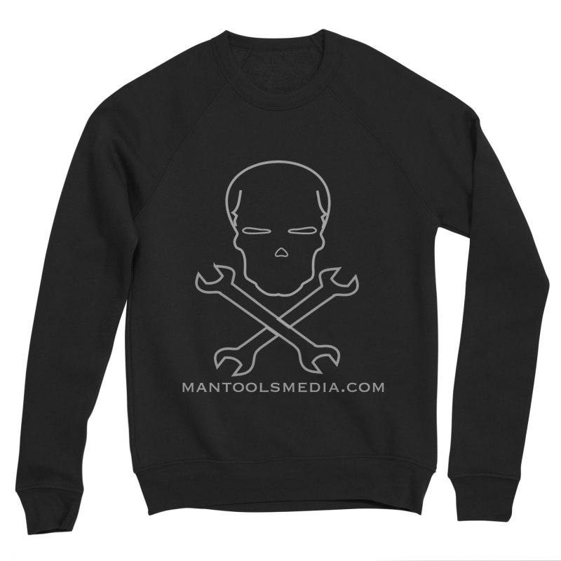 Skully Men's Sponge Fleece Sweatshirt by Man Tools Merch