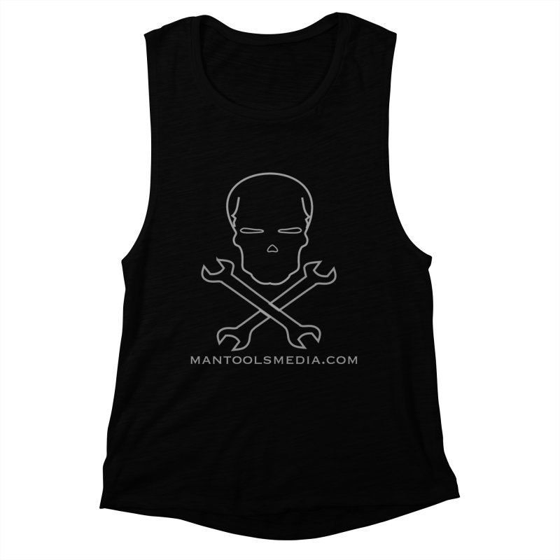 Skully Women's Muscle Tank by Man Tools Merch