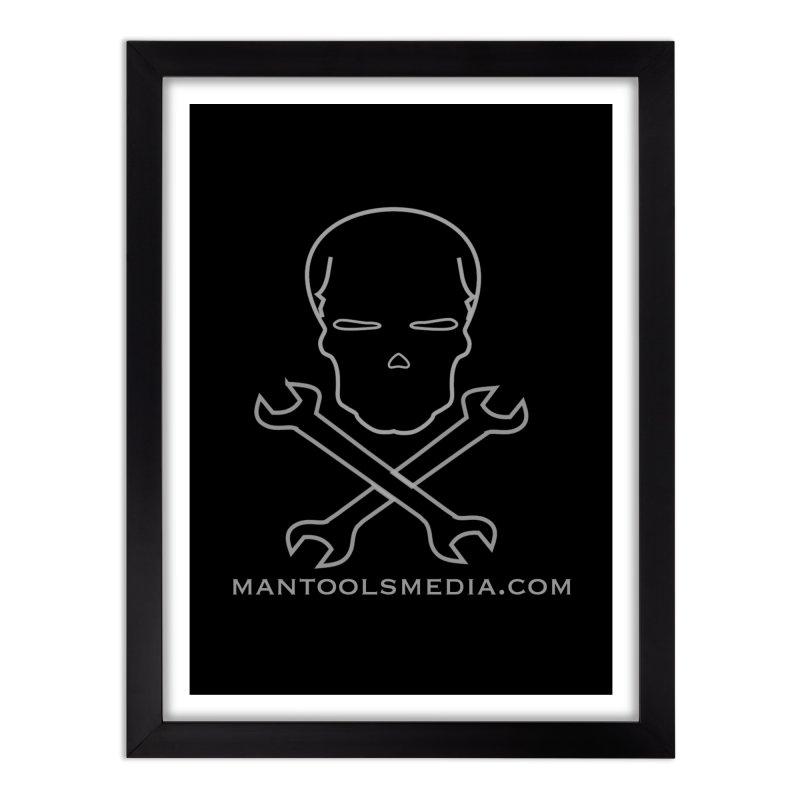 Skully Home Framed Fine Art Print by Man Tools Merch