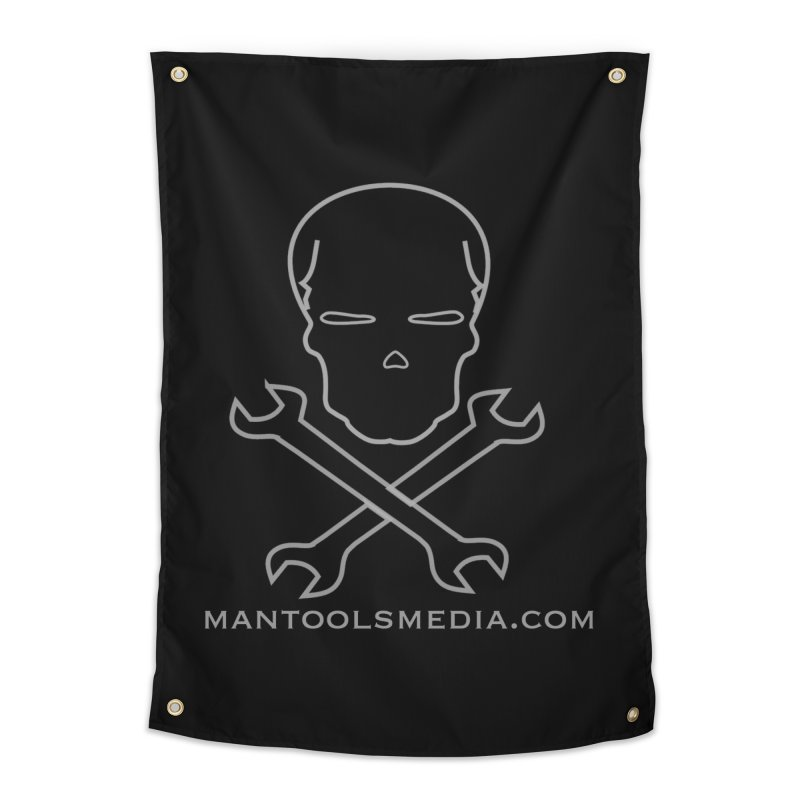Skully Home Tapestry by Man Tools Merch