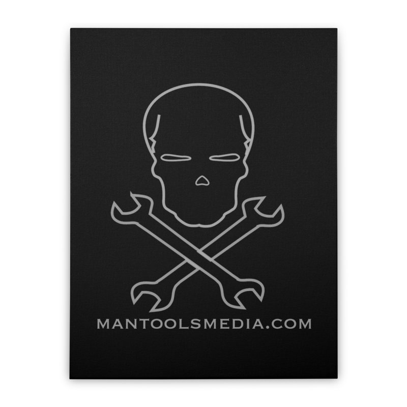 Skully Home Stretched Canvas by Man Tools Merch