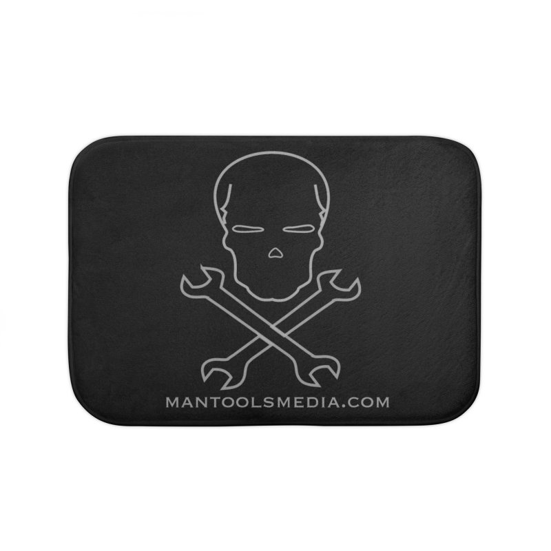 Skully Home Bath Mat by Man Tools Merch