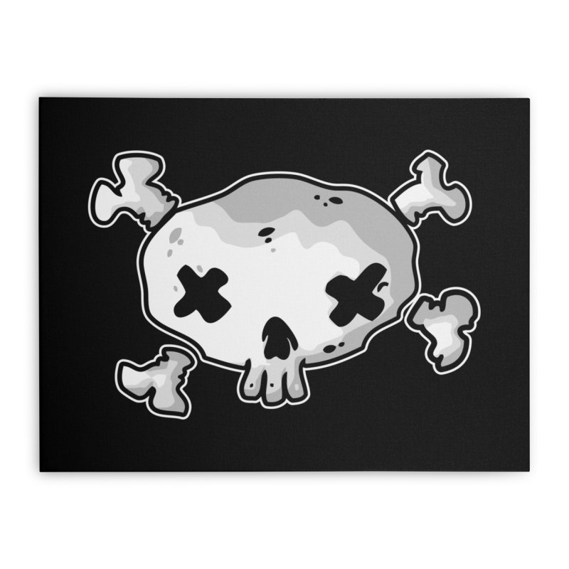 pirate skull Home Stretched Canvas by manuvila