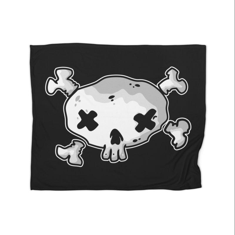 pirate skull Home Fleece Blanket Blanket by manuvila