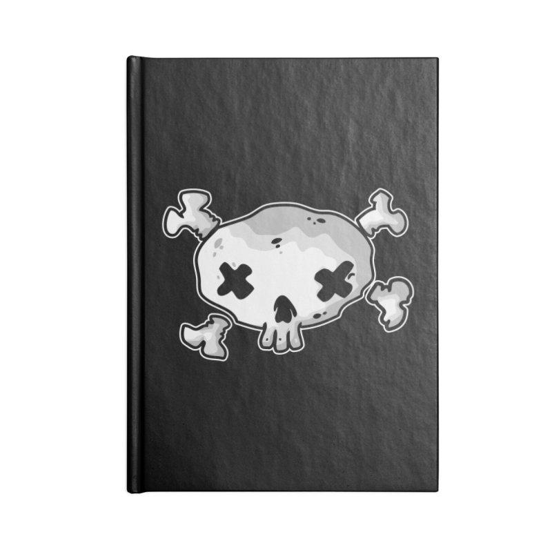 pirate skull Accessories Lined Journal Notebook by manuvila