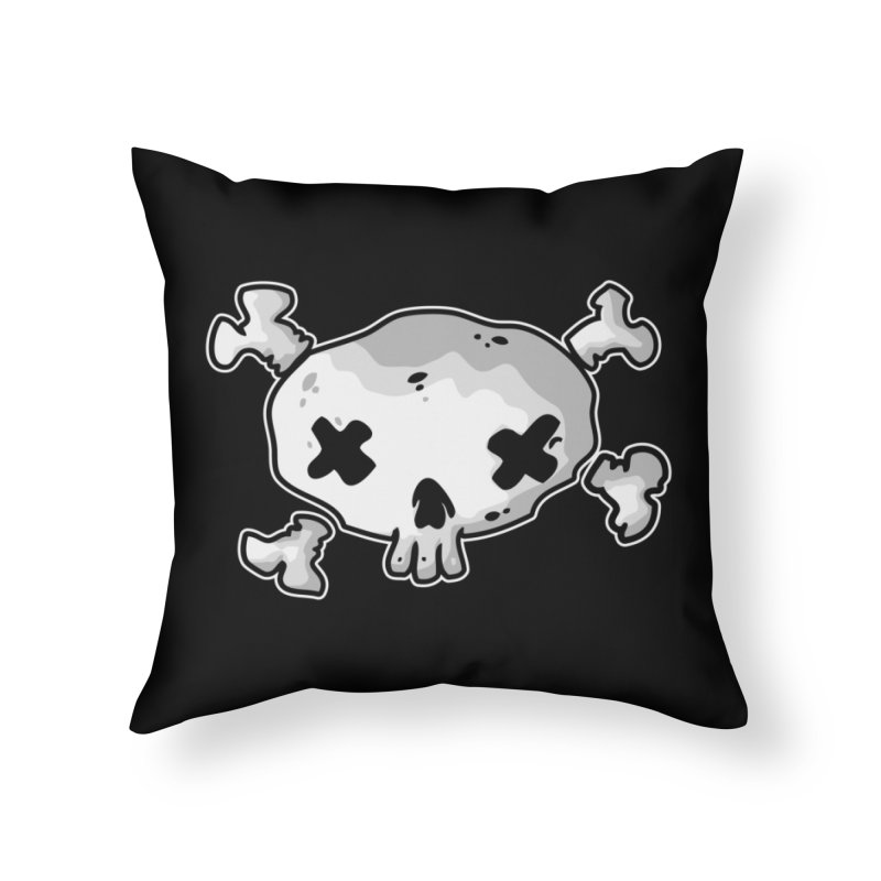 pirate skull Home Throw Pillow by manuvila
