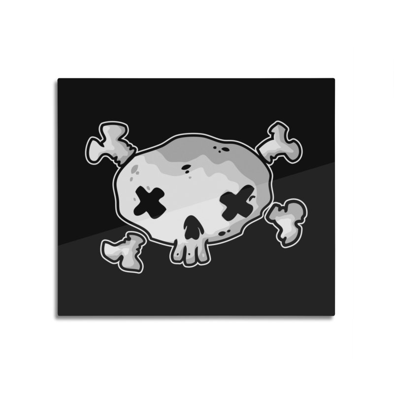 pirate skull Home Mounted Aluminum Print by manuvila