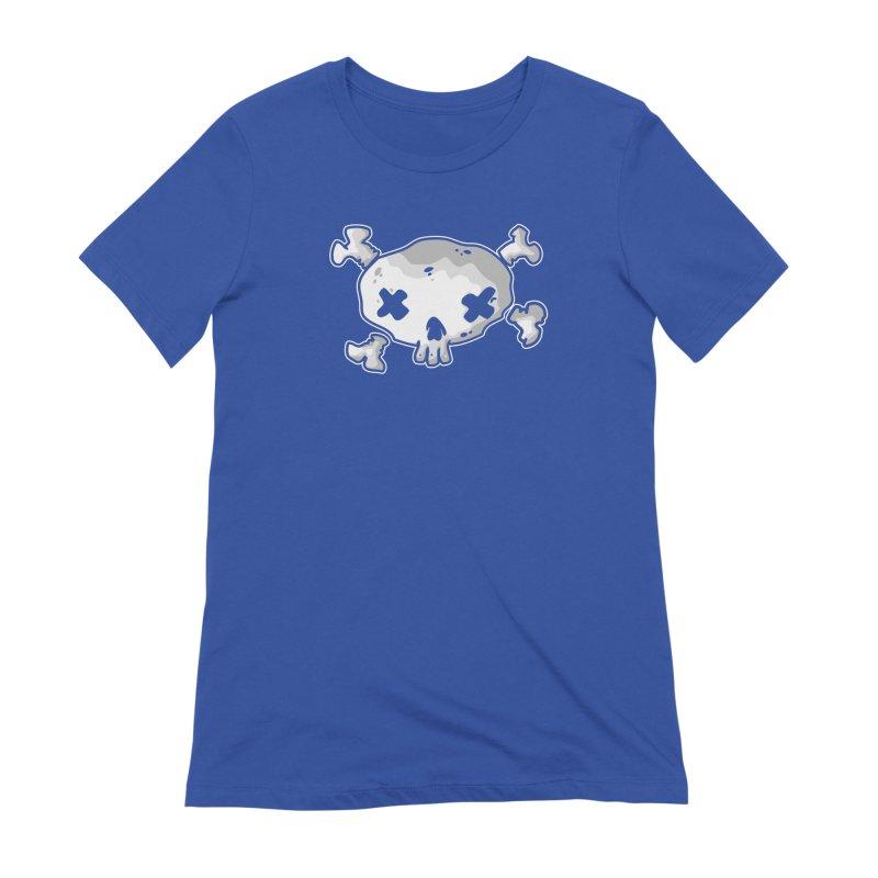 pirate skull Women's Extra Soft T-Shirt by manuvila