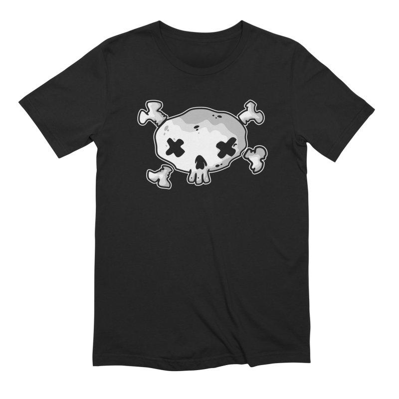 pirate skull Men's Extra Soft T-Shirt by manuvila