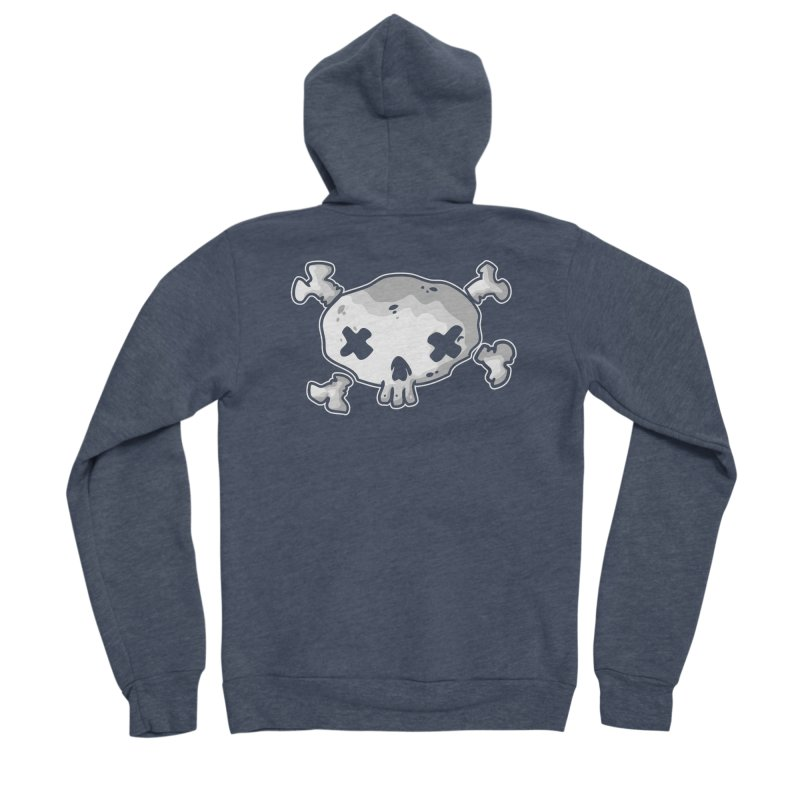pirate skull Women's Sponge Fleece Zip-Up Hoody by manuvila
