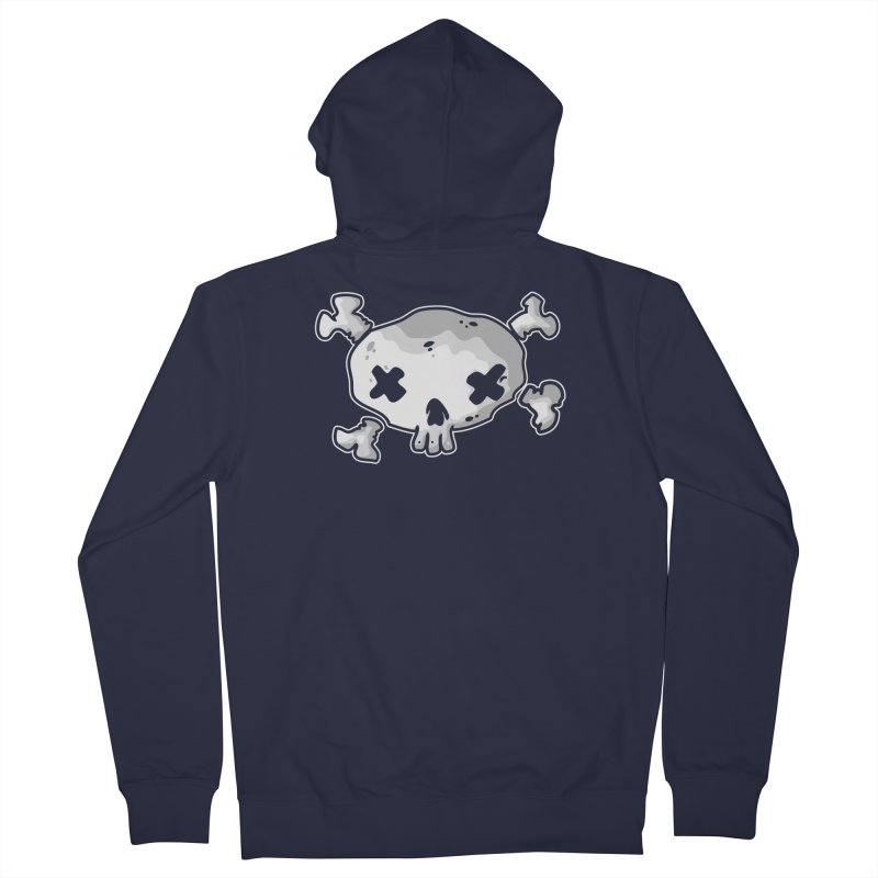 pirate skull Women's French Terry Zip-Up Hoody by manuvila
