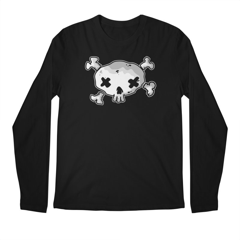 pirate skull Men's Regular Longsleeve T-Shirt by manuvila
