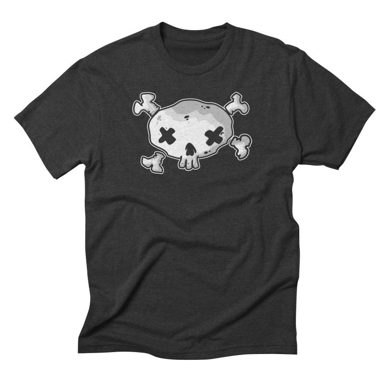 pirate skull Men's Triblend T-Shirt by manuvila