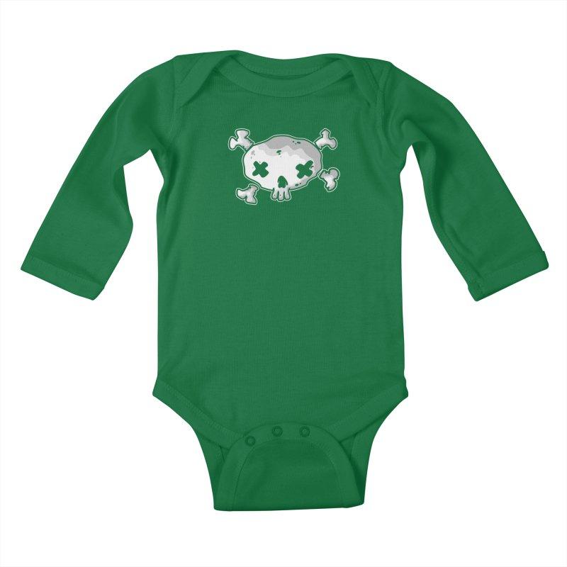 pirate skull Kids Baby Longsleeve Bodysuit by manuvila