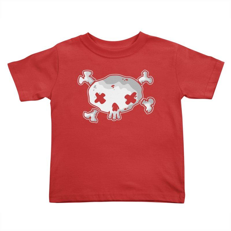 pirate skull Kids Toddler T-Shirt by manuvila
