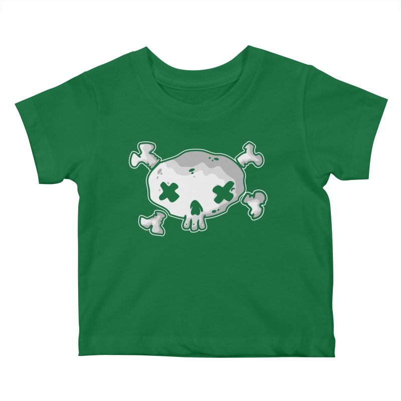 pirate skull Kids Baby T-Shirt by manuvila