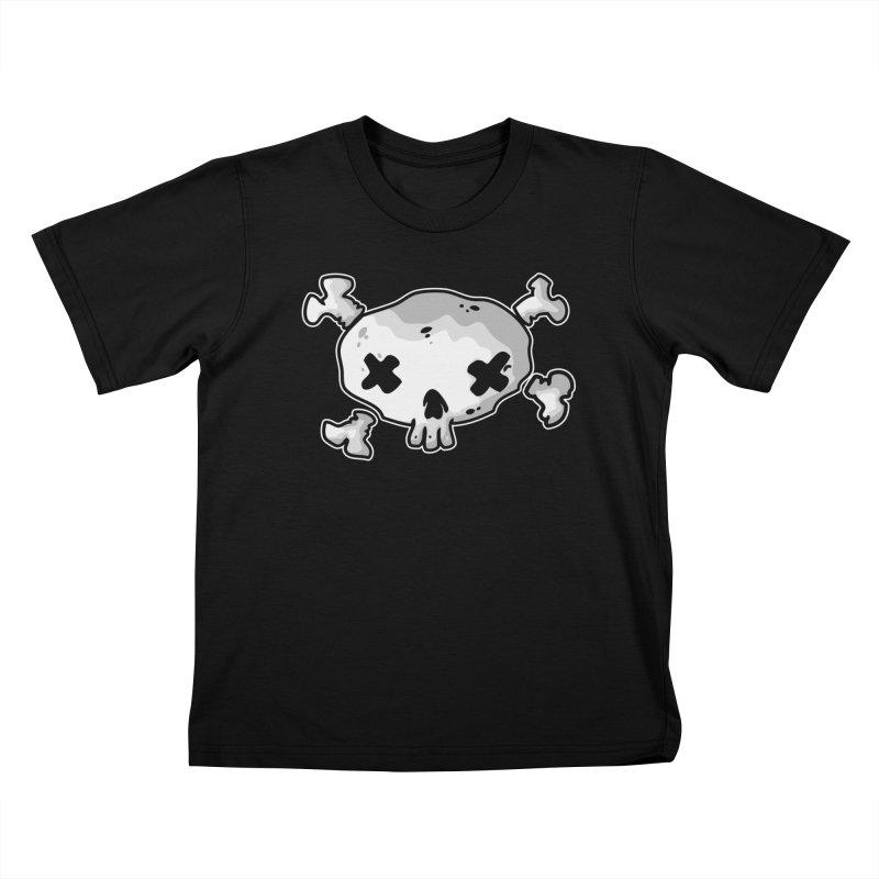 pirate skull Kids T-Shirt by manuvila