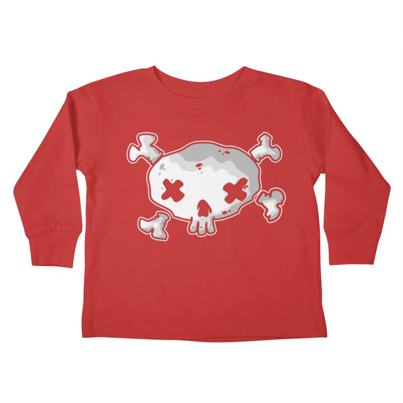 pirate skull Kids Toddler Longsleeve T-Shirt by manuvila